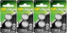 4x GP CR2016-C2 Litihium 3V Coin Cell CR2016/DL2016 Batteries (8 Batteries)