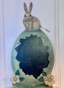 """Bonnie Barrett ~ Boardwalk Originals ~ Easter Bunny Rabbit Egg ~ 34"""" ~ 2007"""