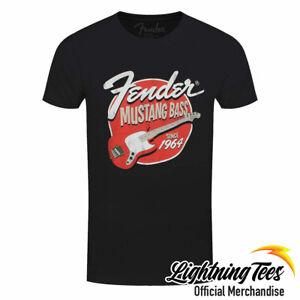 Official Fender Mustang Bass Guitar Rock Band T-Shirt