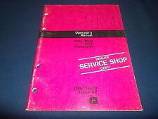 JOHN DEERE JD646C 646C COMPACTOR OPERATION & MAINTENANCE MANUAL BOOK