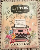 Letters To Live By Inspirational Adult Teen Coloring Book Scripture Brand New