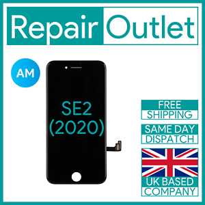 iPhone SE2 Black LCD Touch Screen Digitizer Display Replacement (2020) AM UK