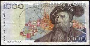SWEDEN  1000 Kronor Banknote ..FV $121++