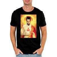 Fight Club Saint Tyler Durden Religious Christian Movie Parody Funny Black TShir
