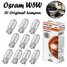 10x Osram W5W 12V 2825 Original Glassockel Standlicht Innenlicht Ersatz Birne