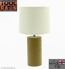 Beige Suede Base & Cream Shade Table Lamp Living Room | Bedroom | GIFT NEW