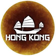 HONG KONG - ROUND NOVELTY SOUVENIR FRIDGE MAGNET - BRAND NEW - GIFT