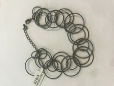 2 LOT Bracelets Charcoal rings metal NEW w/ Tags costume wholesale $19 each