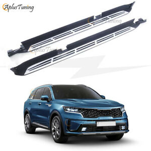 Fit for KIA SORENTO 2021 Side Step Running Boards Nerf Bar Protector