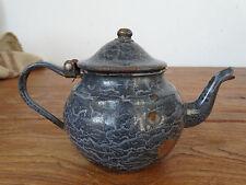 P0765  Email Teekännchen - EMAILLE - KANNE - Kaffeekännchen - grau