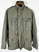 Vintage US Army Cold Weather Field Jacket Distressed Military M 65 Coat 70s Sz S