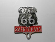 star mobil historic route 66 safety pays license plate topper emblem award