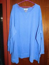 ALL AMERICAN WOMAN'S BLUE FLEECE PULLOVER TOP/SIZE 5X/PRE-OWNED