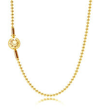 Genuine PANDORA ESSENCE Beaded Necklace Chain 80cm 14K Gold Vermeil 596005