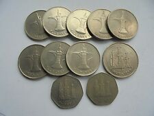 United Arab Emirates, Collection of 11 Coins, in Good Condition.