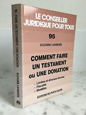 Le conseiller Juridique pour tous 95 Suzanne Lannerée 1998
