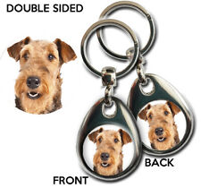 AIREDALE TERRIER dog gift keyring. Quality Metal Exclusive KAZMUGZ design