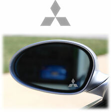 MITSUBISHI WING MIRROR - ETCHED GLASS CAR VINYL DECALS-STICKERS x4 PAJERO LANCER