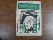 Revue LE GUIGNOL ENCHAINE PAMPHLETAIRE ILLUSTRE No 6 (25 Mai 1922) POINCARE
