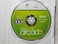 Xbox Live Arcade (Microsoft Xbox 360, 2010) Disc only