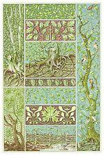 Postcard: Vintage Christmas / Winter - Art Nouveau Mistletoe and Holly Trees
