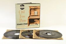 "Old Time Piano Frankie Froba His Boys Decca 9-167 3x7"" 45rpm-BOX SET Vintage"