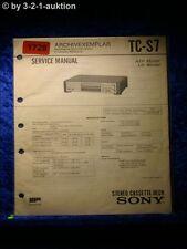 Sony Service Manual TC S7 Cassette Deck  (#1728)