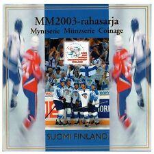 FINLANDE Coffret de 8 pièces BU 2003 - Hockey