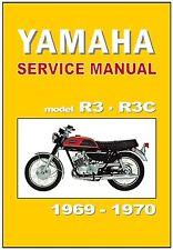 YAMAHA Workshop Manual R3 350 1969 and 1970 Maintenance Service and Repair