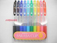 Zebra Sarasa 0.3mm Ultra Fine Retractable Roller Ball Pen, 10 Colors Set