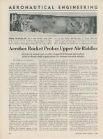 1954 Aviation Article Aerobee Research Missile Rocket Reconnaissance