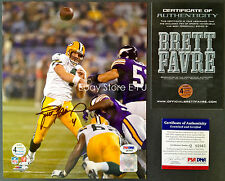 BRETT FAVRE Signed 8x10 Packers 421 TD Auto PSA/DNA COA Autograph +Proof Photo