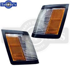 84-87 Grand National Side Parking Marker Turn Light Lamp Lens CORRECT AMBER Pair
