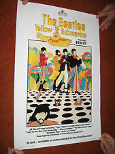 "BEATLES  YELLOW SUBMARINE VIDEO POSTER  NEAR MINT ROLLED 16 X 23 1/2"" 80'S?"