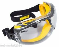 DEWALT DPG82-11C Concealer Clear Anti-Fog Dual Mold Safety Goggle Glasses Sun