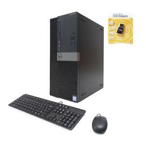 Dell 5050 MT 4-Core i7-6700 3.40/4.0GHz 16GB 512GB NVMe SSD 2TB Nvidia 4GB WIFI