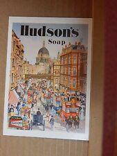 Postcard Advertising Hudsons soap Old Advert Modern card