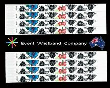 100 x Flowers Tyvek, party, security, wristbands