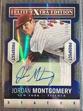 2014 Elite Extra Edition Jordan Montgomery Blue Die-Cut Autograph RC /50 Yankees
