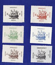 GB278) 1971 Strike, Exeter Emergency Delivery Service, sterling Set of 6,