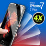 4 X Real Clear Tempered Glass Screen Protector Film For Apple iPhone 7 8 Plus