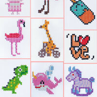 Children Kids Diamond Painting Special Shape Drill Embroidery Craft Stitch Kits