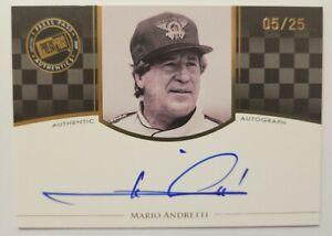 2009 Press Pass Legends Mario Andretti On Card Auto Gold /25 Very Rare Card!!! Y