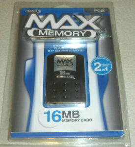 NEW DATEL MAX MEMORY 16MB STORAGE CARD for PS2 PLAYSTATION 2 STORE LEVELS SCORES