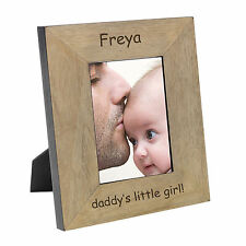 Daddy's Little Girl Wood Photo Frame 6x4 Personalised Engraved Gift Present