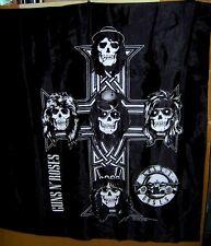 GUNS & ROSES Black & White Large Tapestry 1988 APPETITE FOR DESTRUCTION Cross