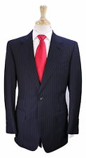 * TOM FORD * Recent Navy Blue Pinstripe Slim Fit Wool 2-Btn Luxury Suit 40R