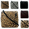Italian Leather Hand Made Small/Micro Fur Shoulder Bag Handbag with Animal Print