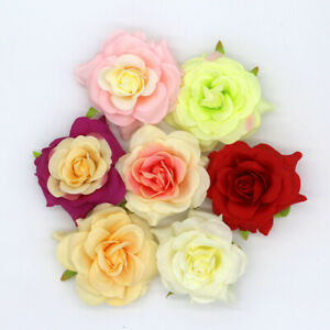 """Large Rose 3.5"""" Lot Artificial Silk Flower Head for Wedding Home Decor Wholesale"""