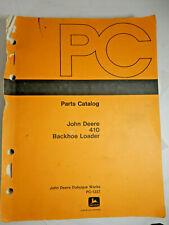 Vintage John Deere 410 Backhoe Loader Parts Catalog PC-1227